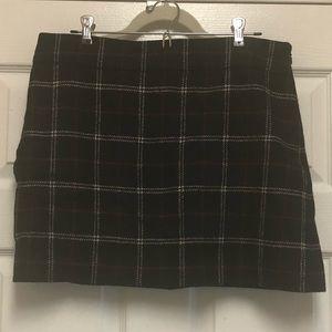 EUC J.Crew Plaid Wool Mini Skirt -  Size 12